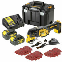 Dewalt DCS355N 18V MultiTool With Acc. + 2 x 4Ah Batteries, Charger & Case
