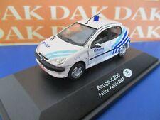 Die cast 1/43 Modellino Auto Polizia Police Peugeot 206 Belgium 2002