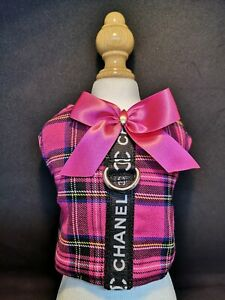 Designer Dog Harness Chihuahua, XS. Tartan design, assorted sizes.