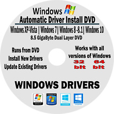 Universal Offline Device Driver Installation DVD for  Windows Computers/Laptops