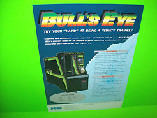 Sega BULLS EYE 1988 Original NOS Vintage Video Arcade Game Promo Sales Flyer
