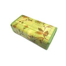 Flower Pattern Bamboo Covered Rectangular Pillow Hard Type Bed Pillow Bedding