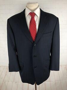 Hickey Freeman Men's Navy Solid Wool Suit 44R 36X28.5 $1,795