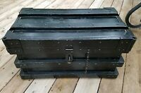 Antique 1897 Vanderman Gold Bullion Rail Road or Stage Coach Strongbox or Trunk