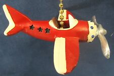 Plane Vintage looking open cockpit  ceiling fan or light pull resin  home decor