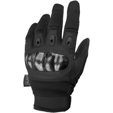 MFH Mission Tactical Gloves Mens Police Patrol Gauntlet Army Knuckle Guard Black
