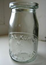 Vintage antique old ww1 period german Carl Kuhne Berlin glass jar