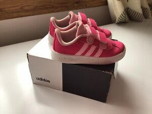 Toddler girls pink adidas trainers size 6.5 UK