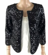 THML HOLIDAY Sequin Cropped Shrug Size Large
