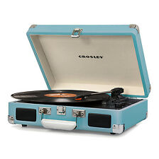Crosley Cruiser Deluxe Portable Bluetooth Record Player Turntable, Turquoise