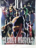 JLA SECRET ORIGINS DC Comics Treasury - Signed: ALEX ROSS & PAUL DINI - 166/499
