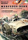 Mercedes Benz 1954 Silver Arrow Triumph Vintage Poster Print Retro Car Races