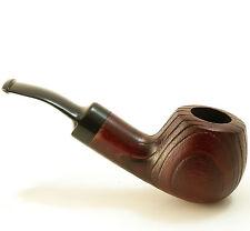 Cherry Wood Tobacco Pipe - No:42m - Sand Blasted for Stark Wood Grain - Mr. Brog