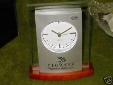 Clock Desk Top Glass Pegasys Roche Drug Co Logo