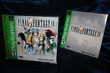 Final Fantasy IX FF9 PS1 COMPLETE Square-Enix Silver Disc Variant PSX Sony