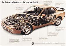 Porsche 944 Turbo Cutaway Classic Car Poster Prints Picture A1 A3+ 928, 924,