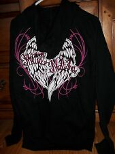 Metal Mulisha Black Wings Full Zip Hoodie Womens Size Small BNWT