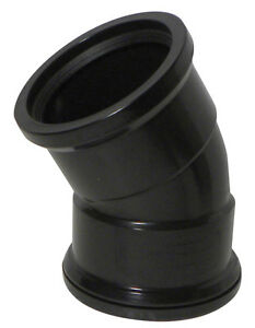 Above Ground Soil System 30 Degree DS Bend (Double Socket) 110mm Black