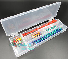 2PCS 140pcs Solderless Breadboard Jumper Cable Wire Kit Box DIY For Arduino new