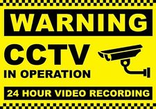 4x Signs and Labels Warning Sign Data Protection Security Act-Compliant CCTV A4