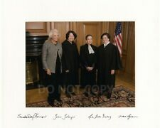 New ListingFemale Supreme Court Justices Ruth Bader Ginsburg reprint signed 8x10 photo Rp