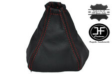 RED STITCH FITS NISSAN PRIMERA P12 2002-2008 CUSTOM MADE GEAR GAITER LEATHER