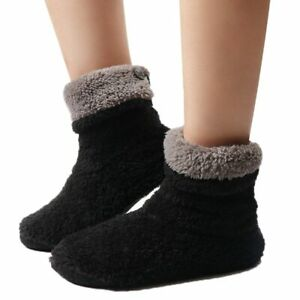 Women Indoor Floor Shoes Fleece Warm Winter Home Sock Slippers