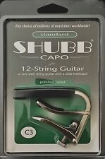 Brand New SHUBB C3 STANDARD CAPO FOR 12 STRINGS GUITAR