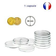 1 Capsule pour monnaie 35 mm intérieur - Protection pièce de monnaie