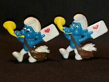 1978 Peyo Schleich Smurfs Postman Valentine's Heart Letter Figure 1x x1