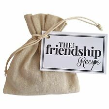 The Little Friendship Recipe - Unique Thoughtful Gift Bag Token Present birthday