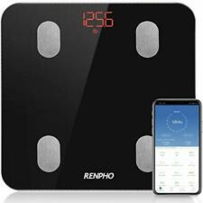 Bluetooth Body Fat Scale, RENPHO Digital Smart Bathroom Weight Scales for Body