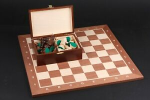 Schach Turnier Staunton 6 Schachbrett Schachspiel Schachset SET 54 x 54 cm 54x54