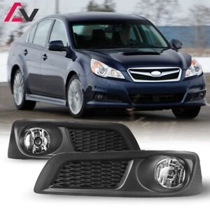 For Subaru Legacy 10-12 Clear Lens Pair OE Fog Light Lamp+Wiring+Switch Kit DOT