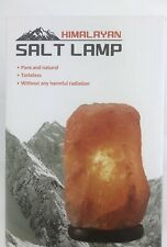Hand Carved Himalayan Rock Salt Lamp 4 lbs with Wood Base