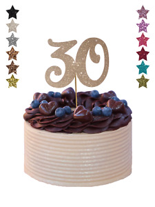 Large Number ANY AGE Birthday Cake Topper Decoration Glitter 18 21st 30 50 60th
