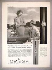 Omega Watch PRINT AD - 1957 ~ wristwatch
