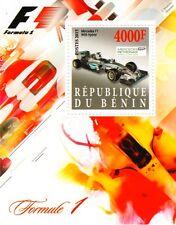 2015 MERCEDES F1 W06 Hybrid Formula 1 Grand Prix Racing Car Stamp Sheet