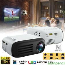 IMini  LCD LED Projector Full HD 1080P Media Theater Cinema Video USB AV HDMI TF