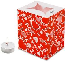 CANDLE BAGS RED HEARTS - 5 Pack