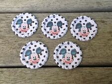 10 Disney Mickey Mouse Metal Flat back Bottle Caps Scrapbook Craft Party D.I.Y
