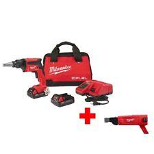 Milwaukee Screw Gun Drywall Brushless Cordless Keyless Red 18-Volt M18 FUEL