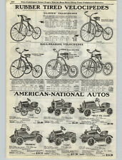 1925 PAPER AD American National Pedal Car Wills St Claire Franklin Liberty Case