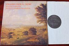 ST CECILIA SINGERS ENGLISH CHORAL MUSIC LP MILLINGTON ALPHA ACA 514 NM (1983)