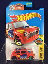 Hot Wheels Toy Car - Morris Mini Cooper - HW Art Car - Red/Orange Color