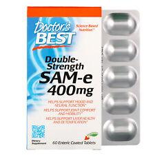 SAM-e, Double-Strength, 400 mg, 60 Enteric Coated Tablets