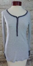 Abercrombie & Fitch Gray & White Striped Shirt Top Women's Size Small