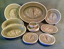 Vintage Susie Cooper Chinese Fern Green Pattern China England~20 Piece Lot~RARE