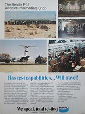 12/1980 PUB BENDIX F-15 AVIONICS INTERMEDIATE SHOP RED FLAG NELLIS AFB C-141B AD