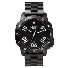 Brand New Nixon A506-001 Mens Ranger Black S.Steel Analog Dial Sport Dress Watch